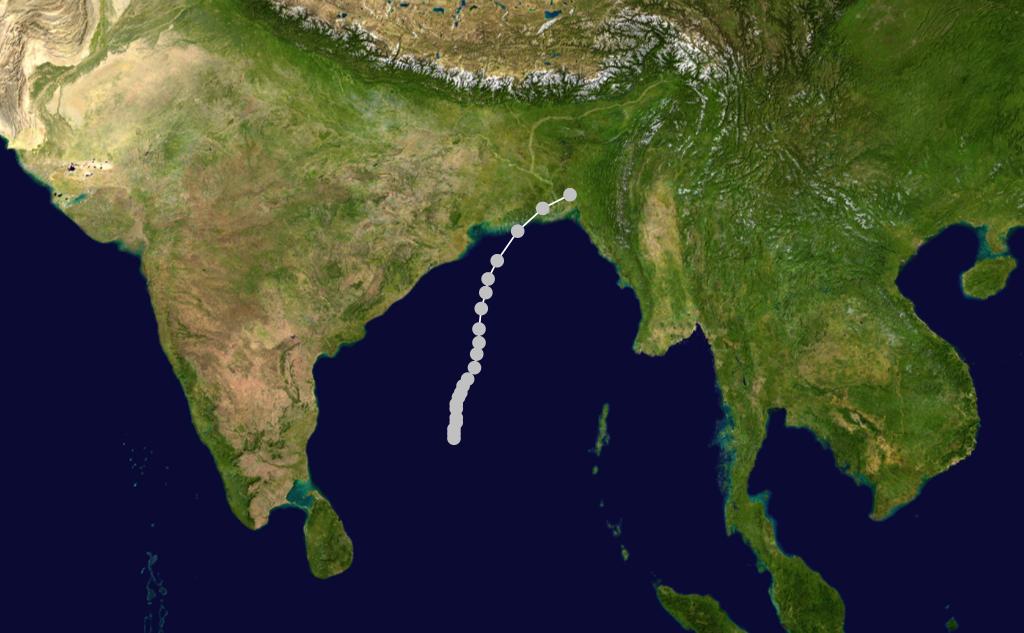 مواقف غيّر فيها الطقس مجرى 1970_Bhola_cyclone_track.png