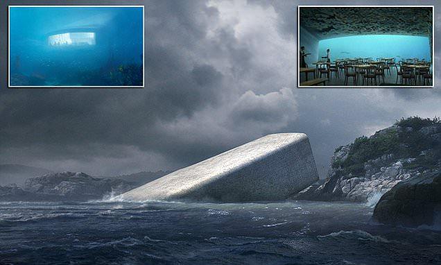 بالصور .. شاهد أول مطعم تحت الماء في أوروبا