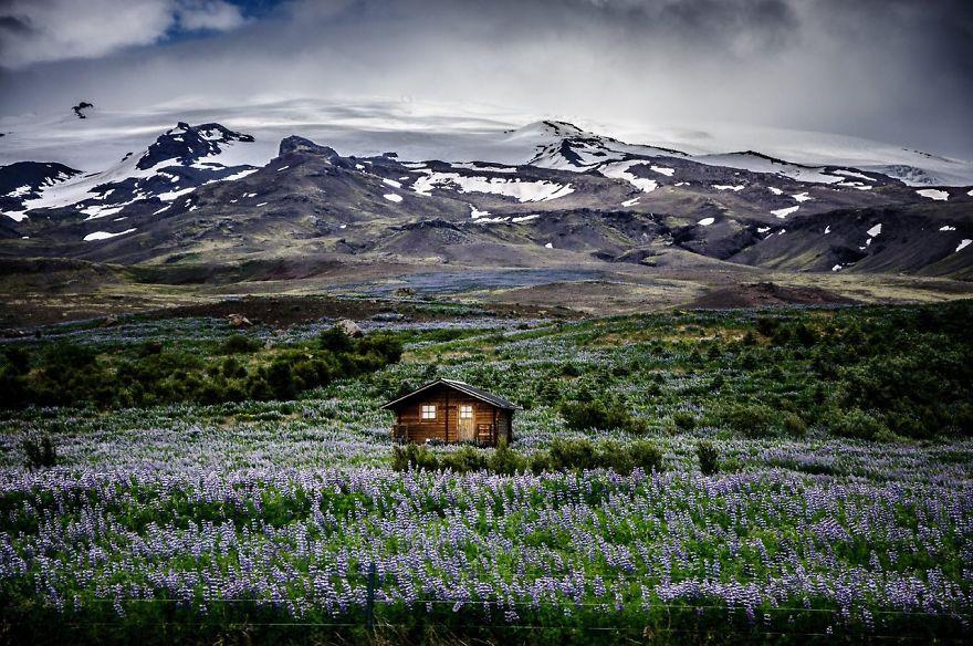 منزل على جبل المرج في آيسلندا