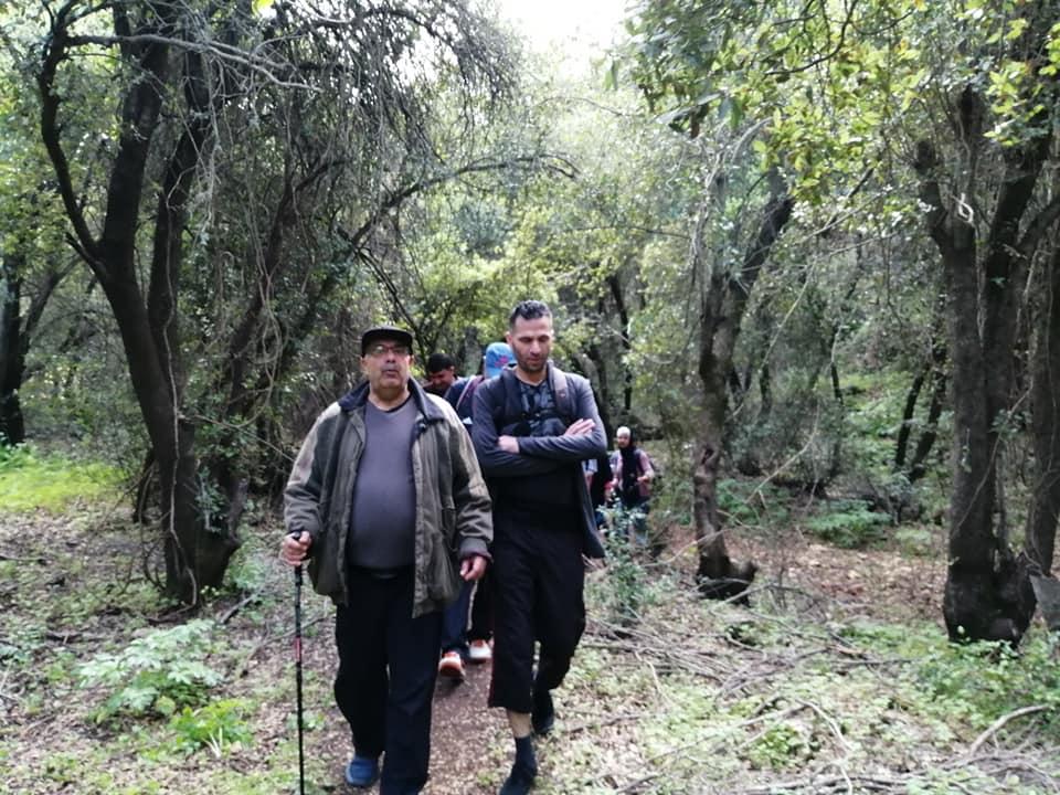جمعية التنمية للإنسان والبيئة الأردنية تنظم مسيرا بيئيا في أدغال غابة برقش في أعالي جرود لواء الكورة .