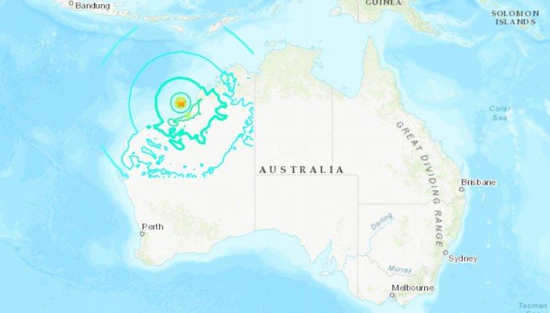 أثر زلزال على أستراليا وكان بقوة 6.6 وعمق 10كم