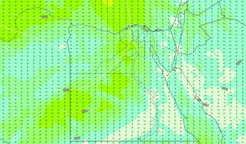الرياح الجنوبية النشطة المتوقعة يوم  الأثنين