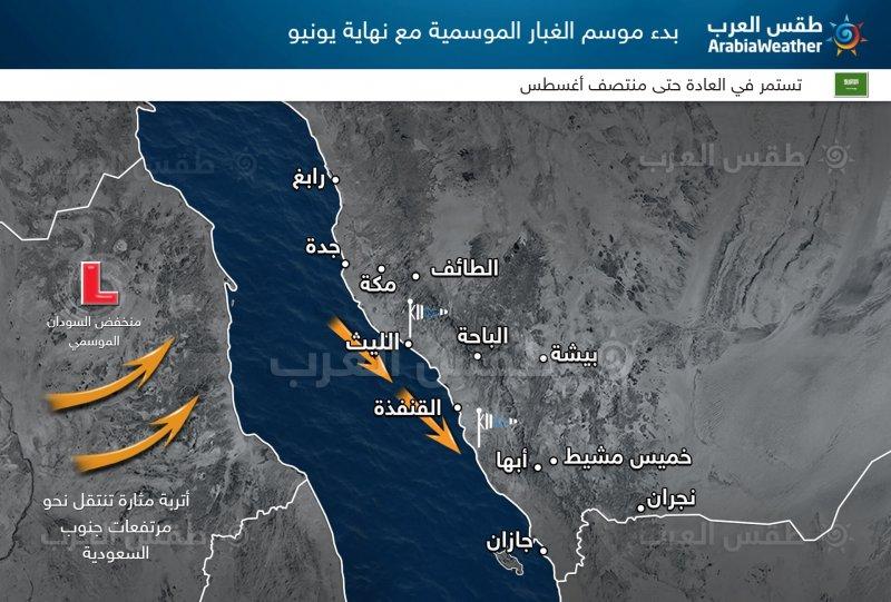 طقس العرب - غبار موسمية