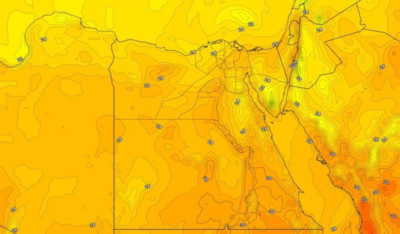 درجات الحرارة العظمى المتوقعة يوم الجمعة 24-10-2019
