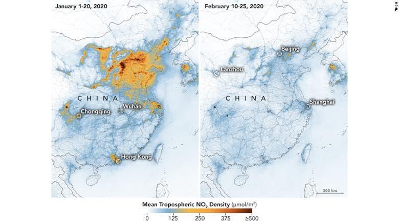 صوروكالة ناسا تبين عمليات الرصد فوق الصين